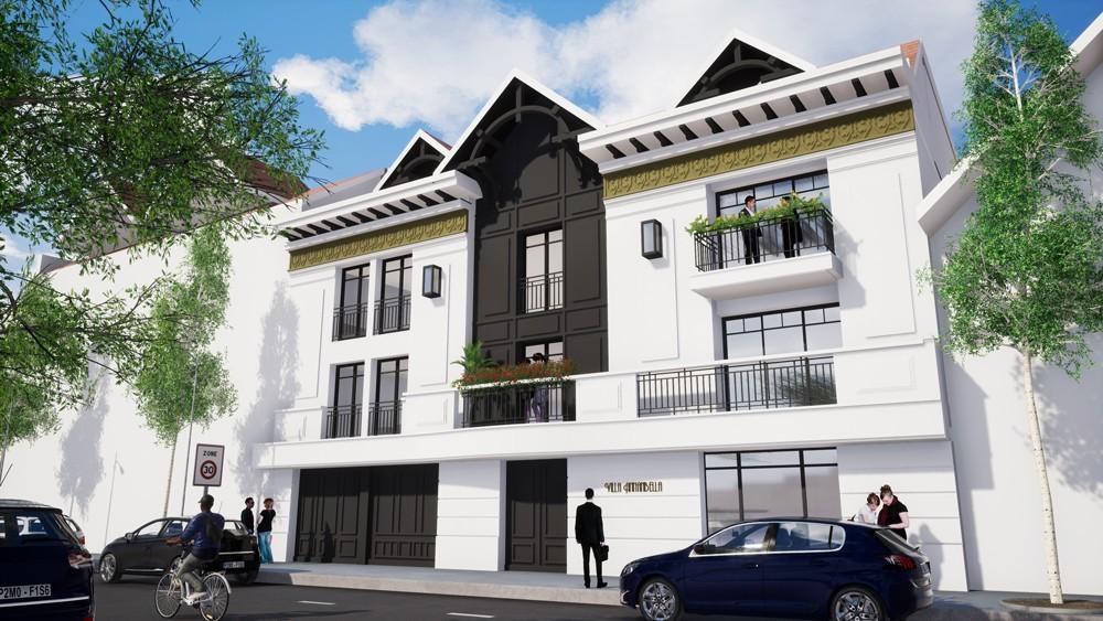 Façade nord 3D de la résidence neuve Villa Annabella à Arcachon