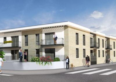 Extérieur 3D de la Villa Alba à Mérignac