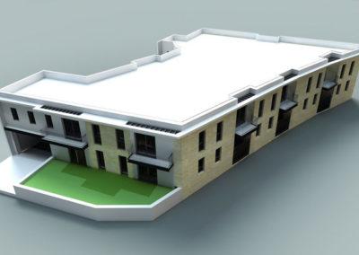 Plan 3D de la Villa Alba à Mérignac