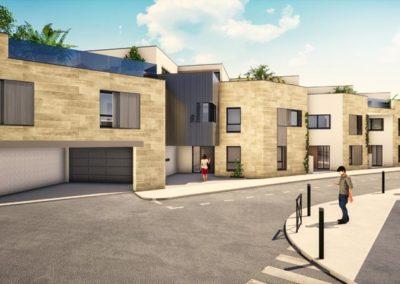 Plan 3D extérieur Villa Etchenique à Bordeaux Caudéran