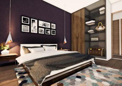 Plan 3D chambre Villa Etchenique à Bordeaux Caudéran