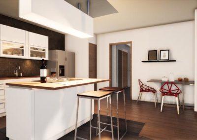 Plan 3D cuisine Villa Etchenique à Bordeaux Caudéran