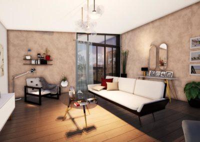 Plan 3D Villa Etchenique à Bordeaux Caudéran