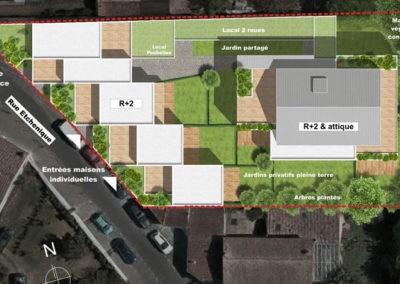 Plan Villa Etchenique à Bordeaux Caudéran