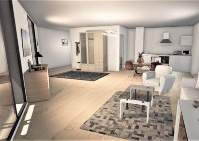 Programme immobilier neuf Annexe Bordeaux Bastide Niel salon