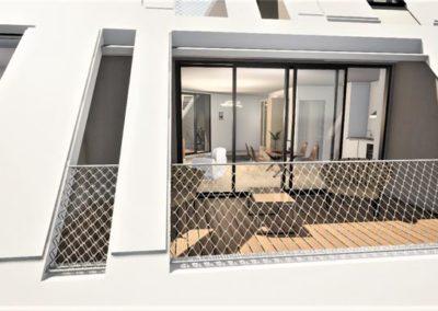 Programme immobilier neuf Annexe Bordeaux Bastide Niel terrasse